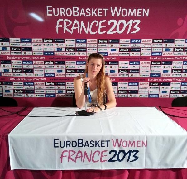 Maïté (MBS 2e année), Team Manager de l'équipe Biélorussie aux Championnats d'Europe de Basketball féminin