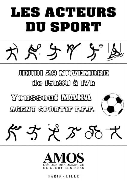 ÉVÉNEMENT AMOS: Les Acteurs du Sport avec M. Youssouf Mara, Agent sportif F.F.F
