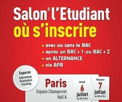 AMOS vous donne rendez-vous au Salon L'Etudiant, le 6 et 7 Juillet (Paris)