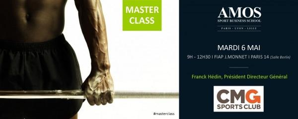Master Class avec Franck Hédin, Président Directeur Général de CMG Sports Club