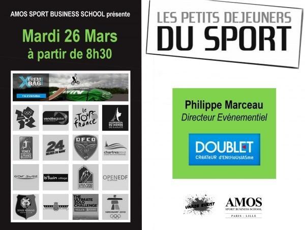 ÉVÈNEMENT AMOS LILLE : Les Petits-Déjeuners du Sport avec l'entreprise DOUBLET