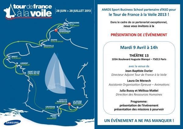AMOS, partenaire avec Amaury Sport Organisation (ASO) pour le Tour de France à la Voile
