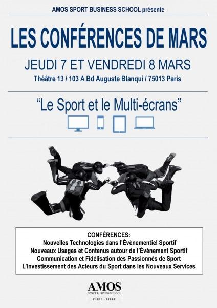ÉVÉNEMENT AMOS : Les Conférences de Mars « Le Sport et le Multi-écrans »