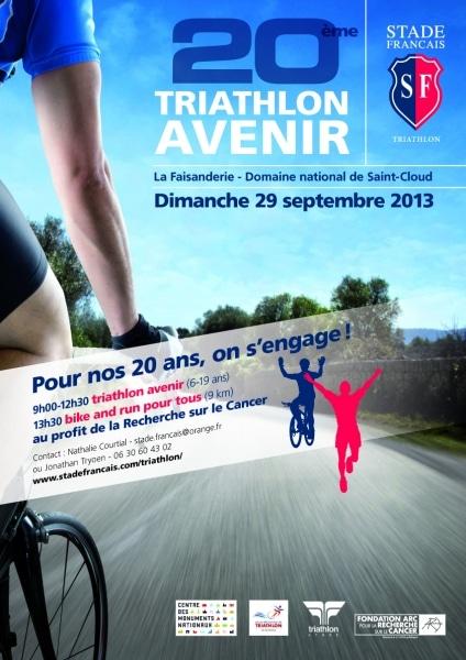 20ème Triathlon Avenir du Stade Français au profit de la fondation ARC : nos étudiants mobilisés