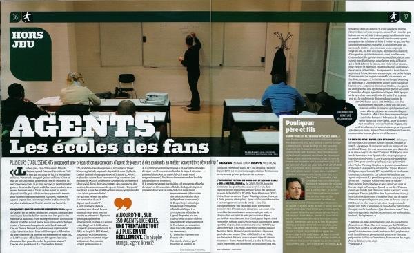 « Un seul objectif : réussir l'examen ! ». Retrouvez l'article de France Football sur la formation AMOS Agent de Joueurs.