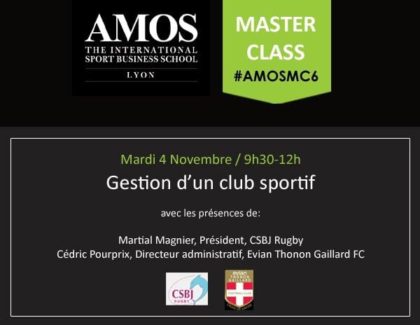 Master Class #6: Gestion d'un club sportif
