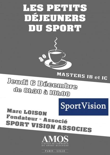 ÉVÉNEMENT AMOS : Les Petits-Déjeuners du Sport avec SPORT VISION