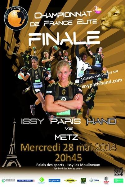 Finale championnat de France handball: soutien aux joueuses Issy Paris Hand (partenaire AMOS)
