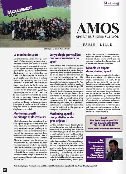 """""""Les enjeux du marketing sportif"""" - Article Marketing Grandes Ecoles et Universités"""