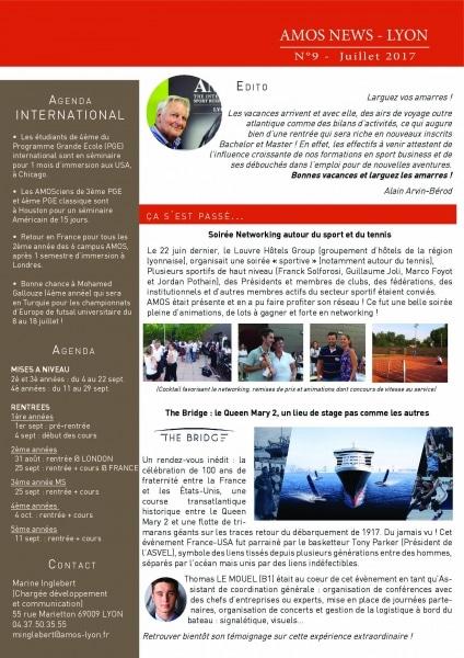 AMOS Lyon : La newsletter de juillet est arrivée !