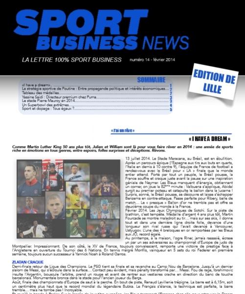 SBnews Lille: l'actualité 100% sport business