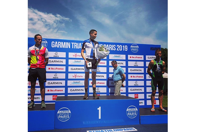 Romain, vainqueur du triathlon de Paris