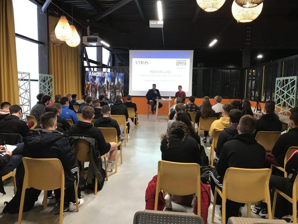 AMOS Rennes : 1ère Masterclass sur l'entreprenariat dans le sport à Upper Avenue Trampoline Park