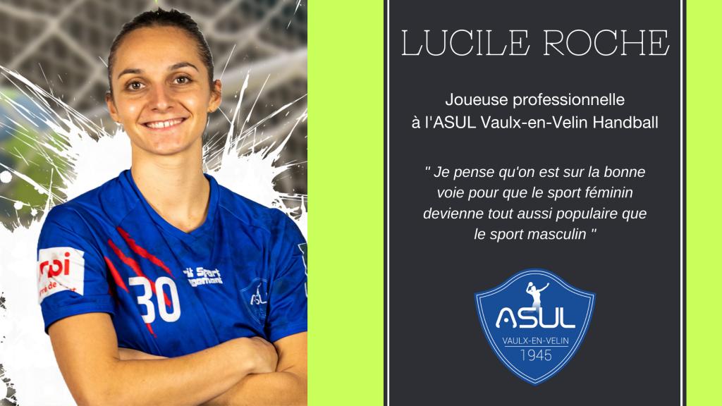 Interview de Lucile ROCHE, joueuse de l'ASUL Vaulx-en-Velin Handball